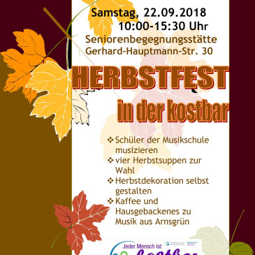 Herbstfest in der Kostbar